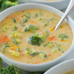 Better Than Panera Broccoli Soup | lifemadesimplebakes.com