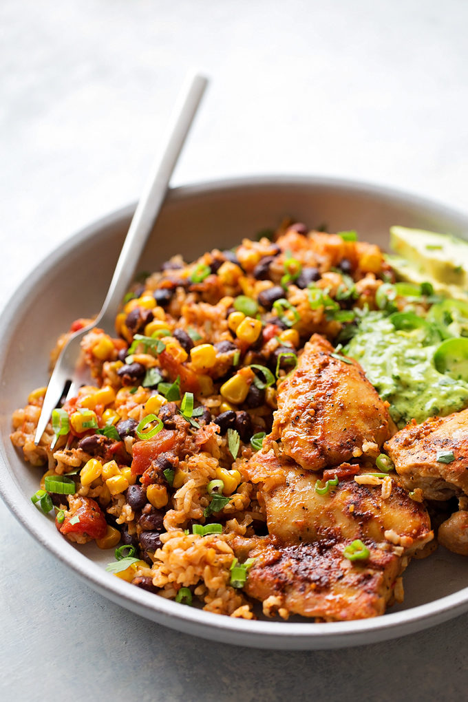 Instant Pot Fiesta Chicken and Rice | lifemadesimplebakes.com