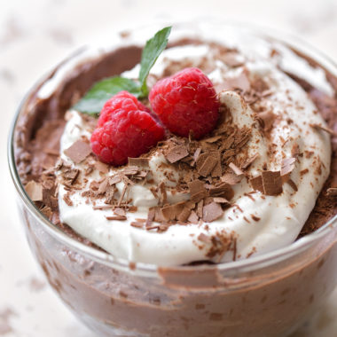 5 Ingredient Chocolate Coconut Mousse | lifemadesimplebakes.com