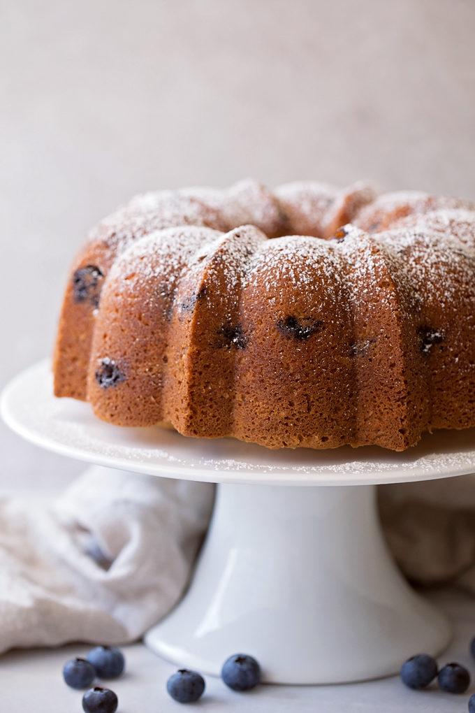 Blueberry Almond Bundt Cake | lifemadesimplebakes.com
