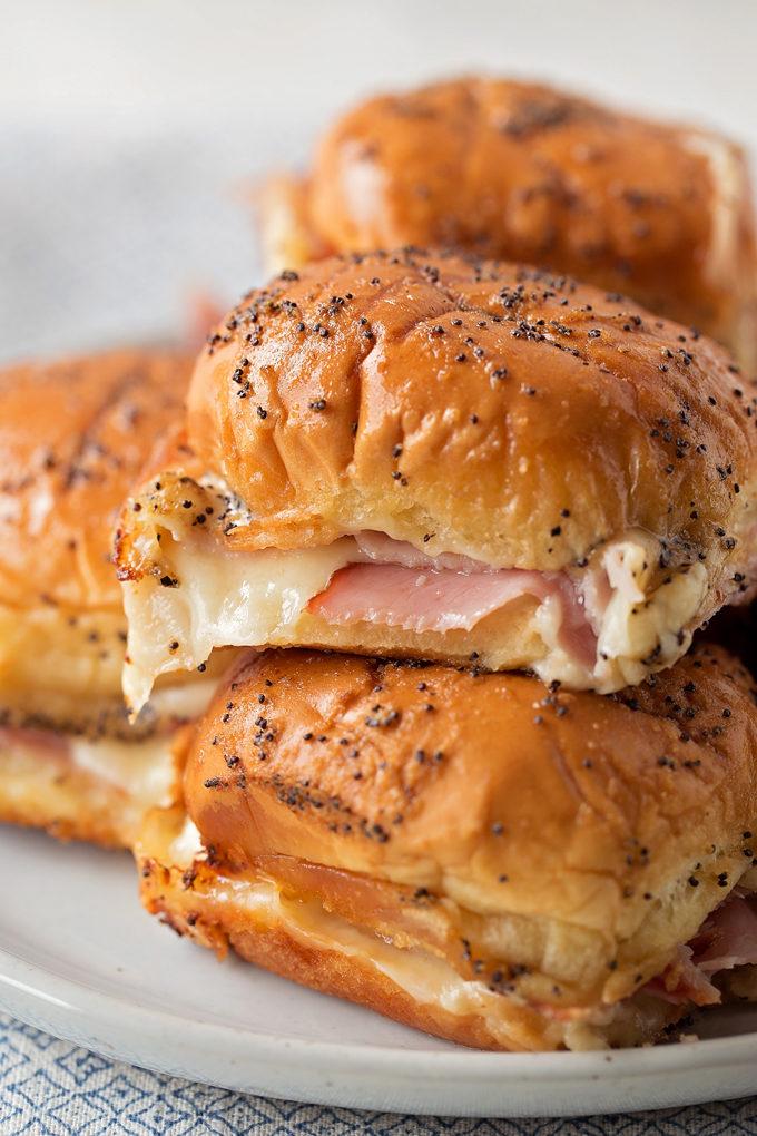 Ham and Swiss Sliders | lifemadesimplebakes.com
