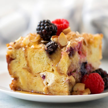 Berry French Toast Casserole | lifemadesimplebakes.com