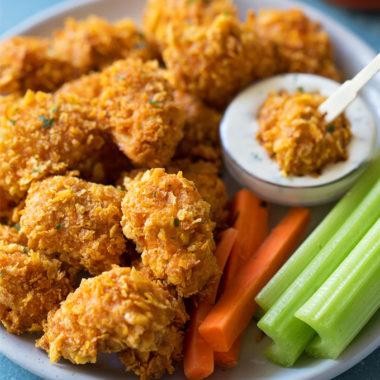 Crispy Buffalo Chicken Nuggets | lifemadesimplebakes.com