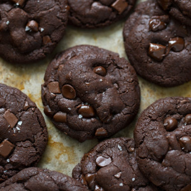 Double Chocolate Coconut Oil Cookies | lifemadesimplebakes.com