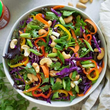 Chopped Thai Salad | lifemadesimplebakes.com