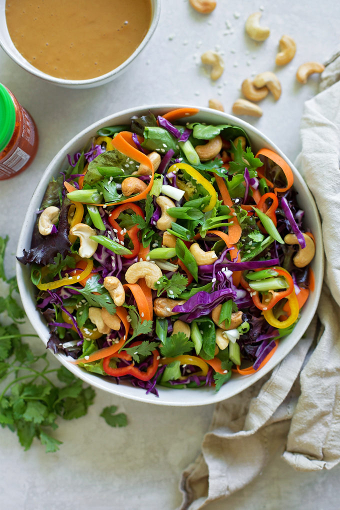 Chopped Thai Salad | lifemadesimplebakes.com