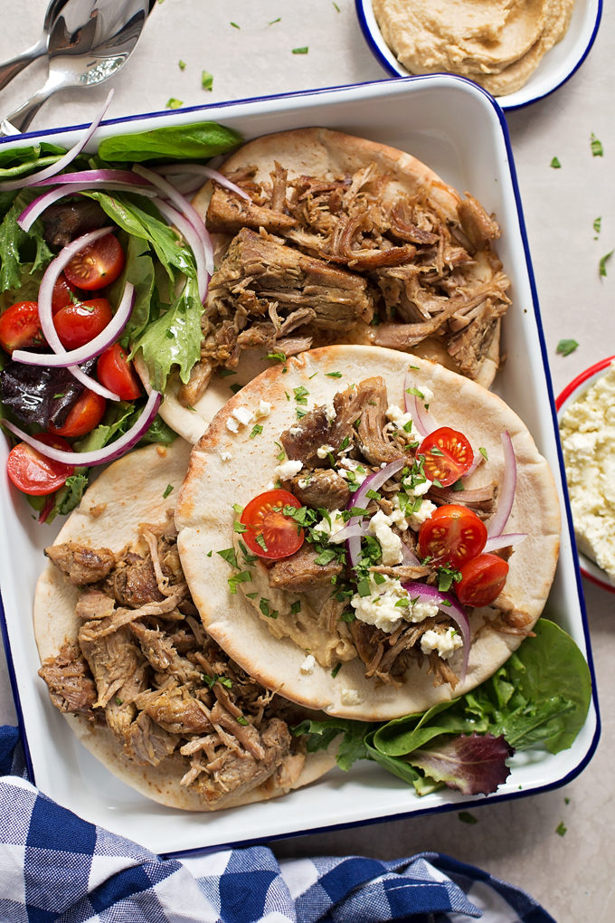 Instant Pot Pork Gyros | lifemadesimplebakes.com