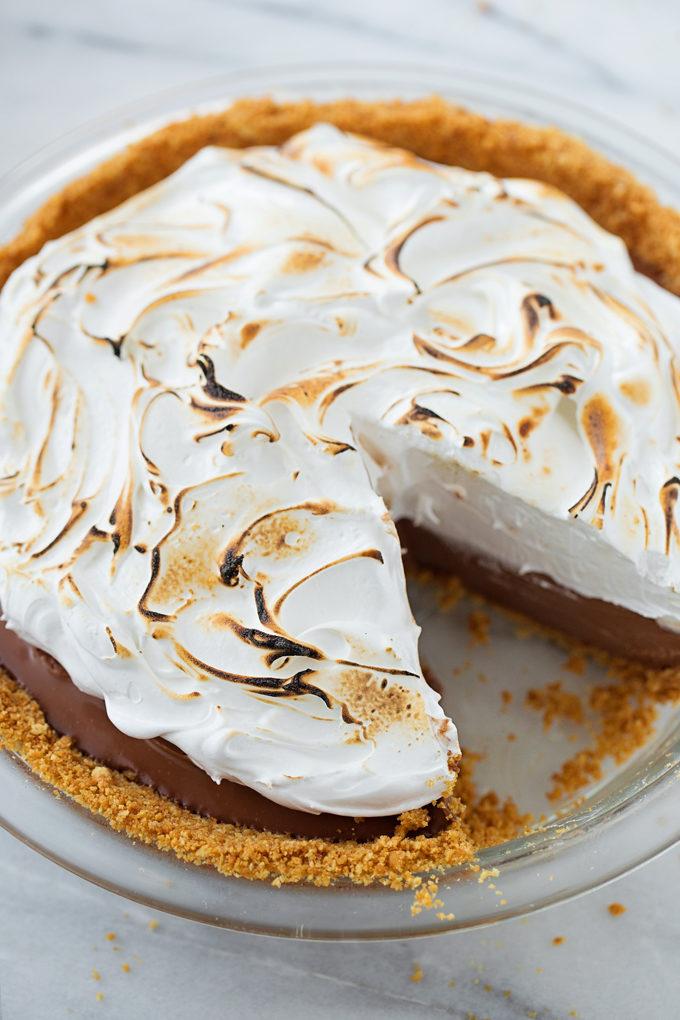 No-Bake S'mores Pie | lifemadesimplebakes.com