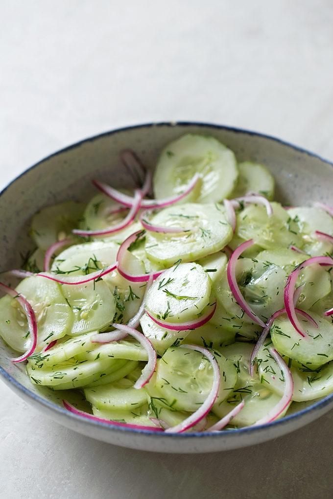 Cucumber Dill Salad | lifemadesimplebakes.com