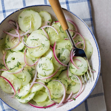 Cucumber Dill Salad   lifemadesimplebakes.com
