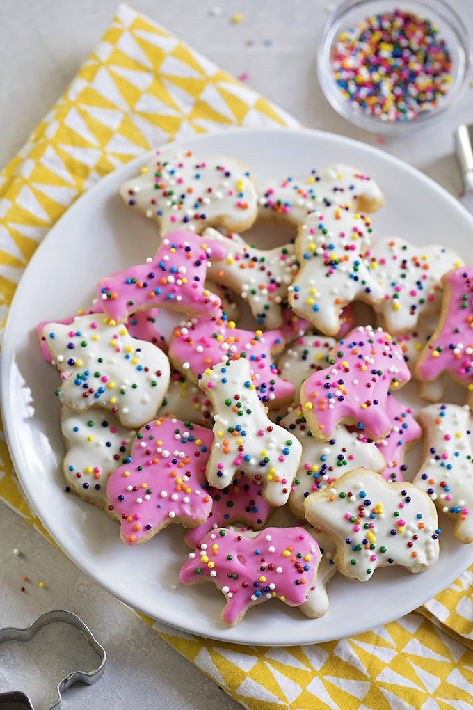 Frosted Animal Cookies | lifemadesimplebakes.com