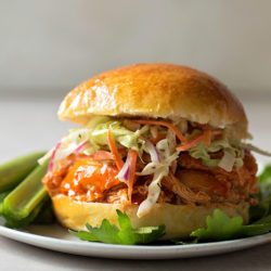 Instant Pot Buffalo Chicken Sliders | lifemadesimplebakes.com