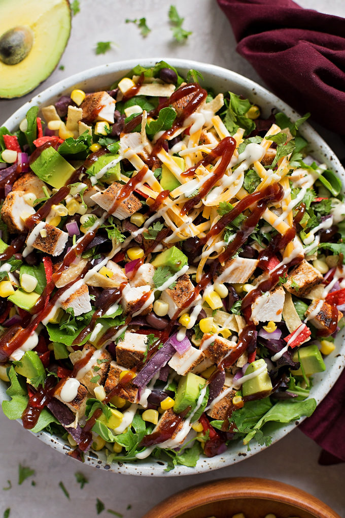 BBQ Chicken Salad   lifemadesimplebakes.com