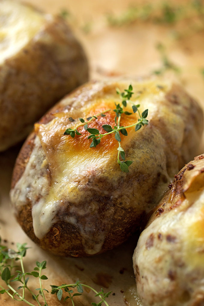 French onion soup stuffed potatoes. | lifemadesimplebakes.com