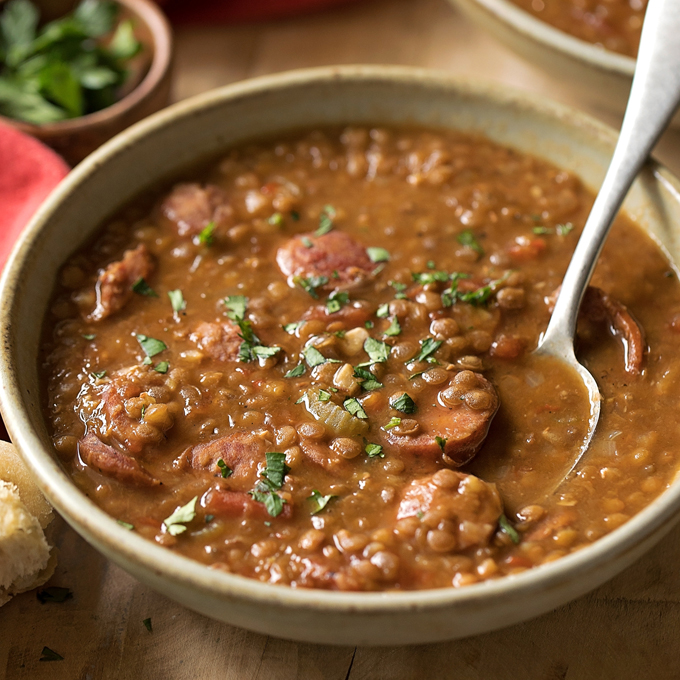 Instant Pot Smoked Sausage And Lentil Soup Life Made Simple