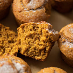 Copycat Wegman's whole wheat pumpkin muffins. | lifemadesimplebakes.com