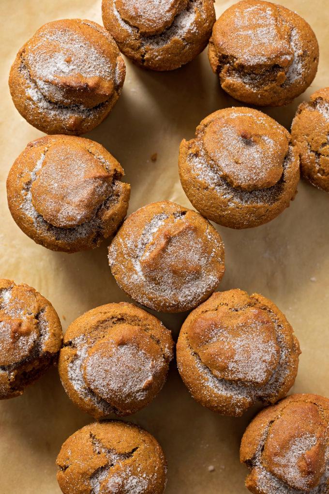 Moisty, fluffy whole wheat pumpkin muffins.   lifemadesimplebakes.com