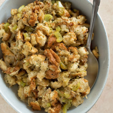 Slow cooker stuffing, a classic holiday side dish!