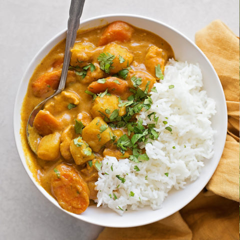 Yellow Coconut Curry Chicken