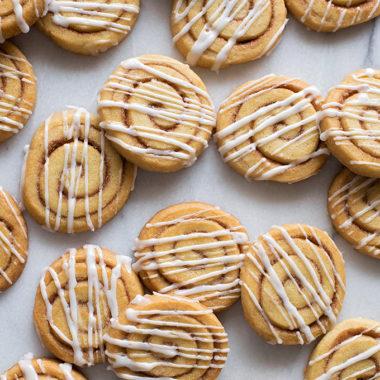 Slice and bake cinnamon roll cookies taste just like cinnamon rolls!