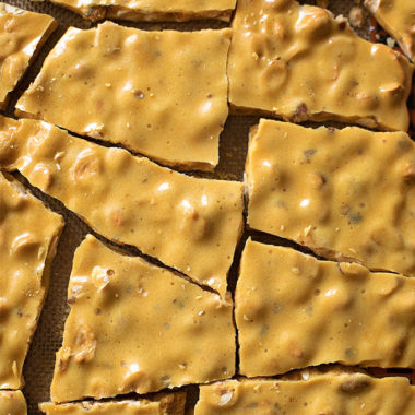 Microwave peanut brittle is an easy, festive holiday treat.