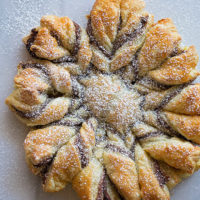 Nutella Puff Pastry Snowflake