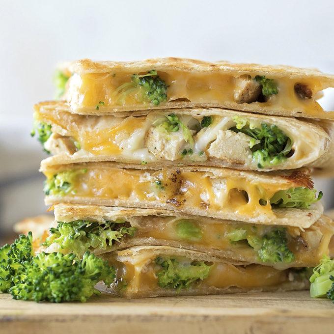 Chicken Broccoli Quesadillas Life Made Simple