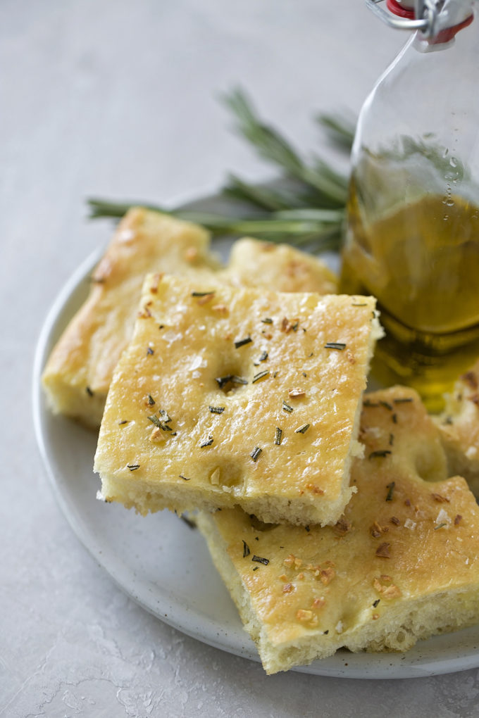 Delicious, easy homemade focaccia can be served with just about any meal!