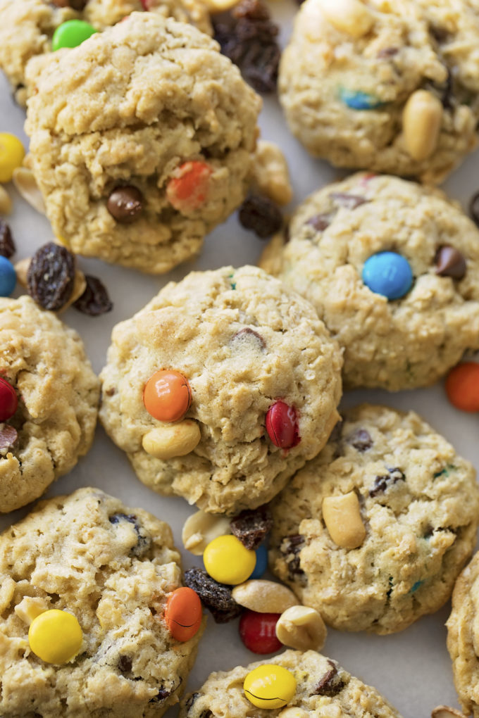 You've never had anything quite like these freshly baked, soft and chewy trail mix oatmeal cookies.