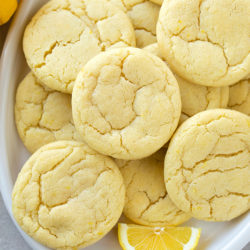 A plate full of lemon sugar cookies won't last long- they're irresistible!