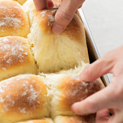 Soft, tender potato pull-apart rolls.