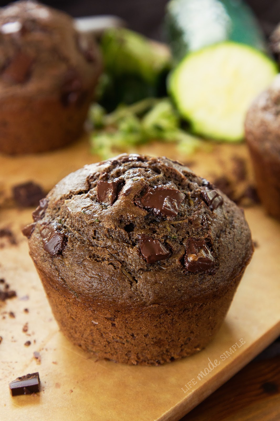 Chocolate Chunk Zucchini Muffins Life Made Simple