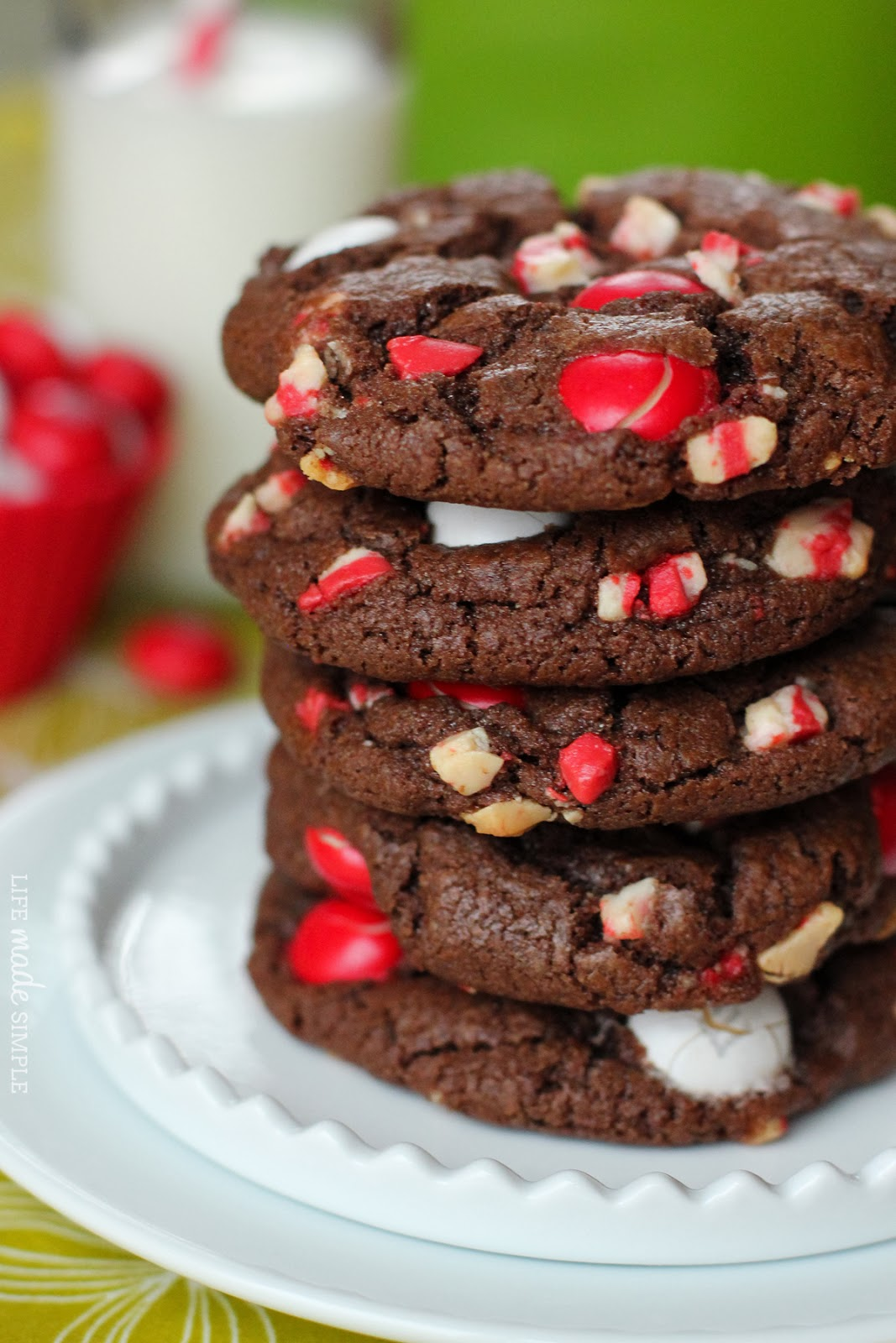 Chocolate Peppermint M&M Cookies - Life Made Simple