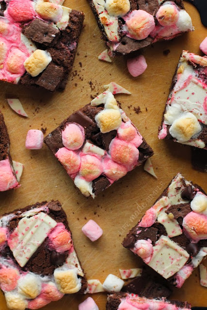 Chocolate Peppermint S'mores Bars