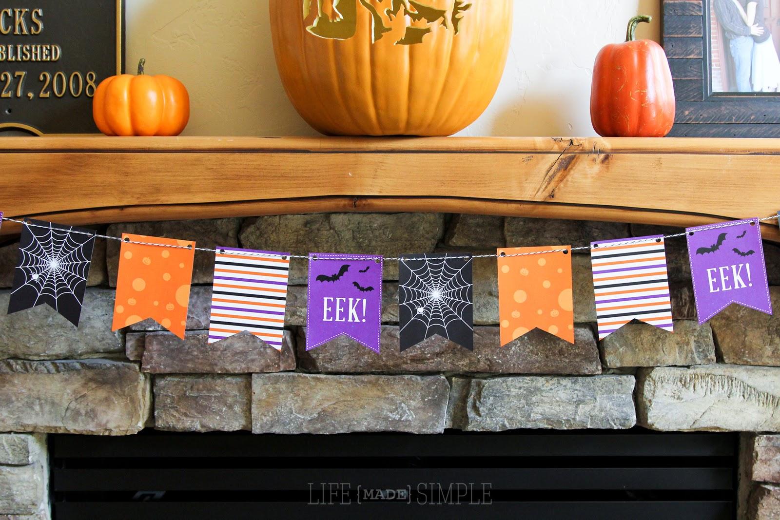 Halloween Bunting halloween wreath and halloween bunting Halloween Bunting Banner