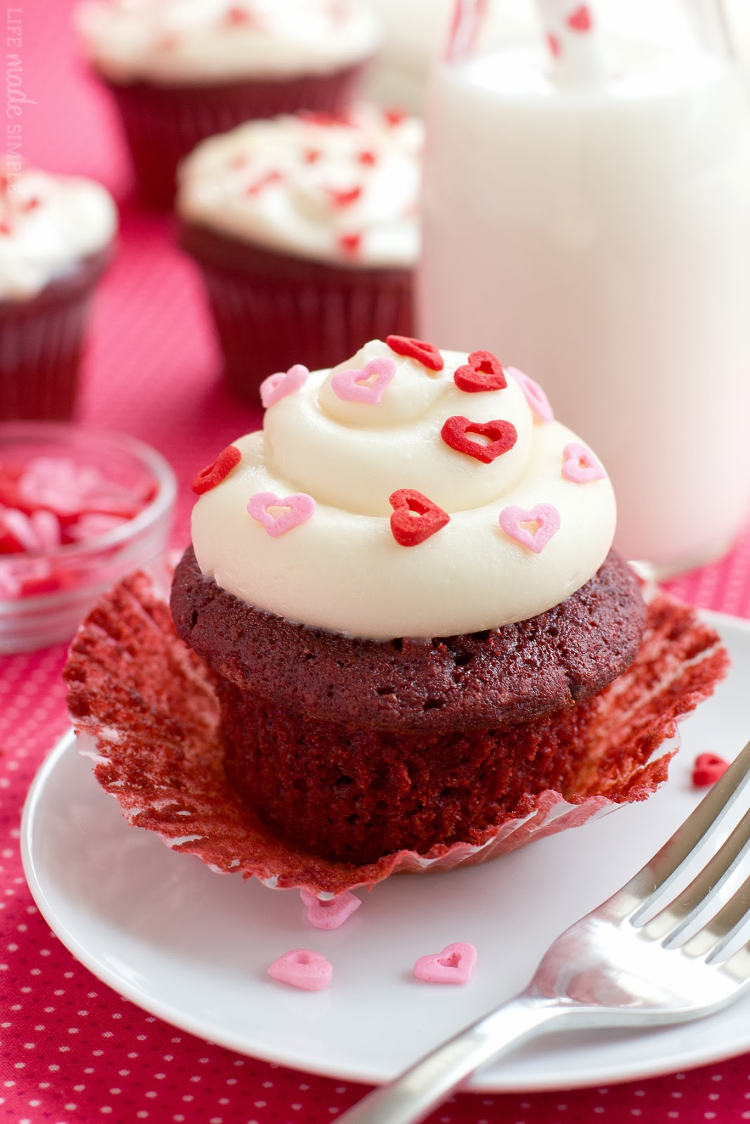 Red Velvet Cupcakes with Cream Cheese Frosting   Life Made Simple