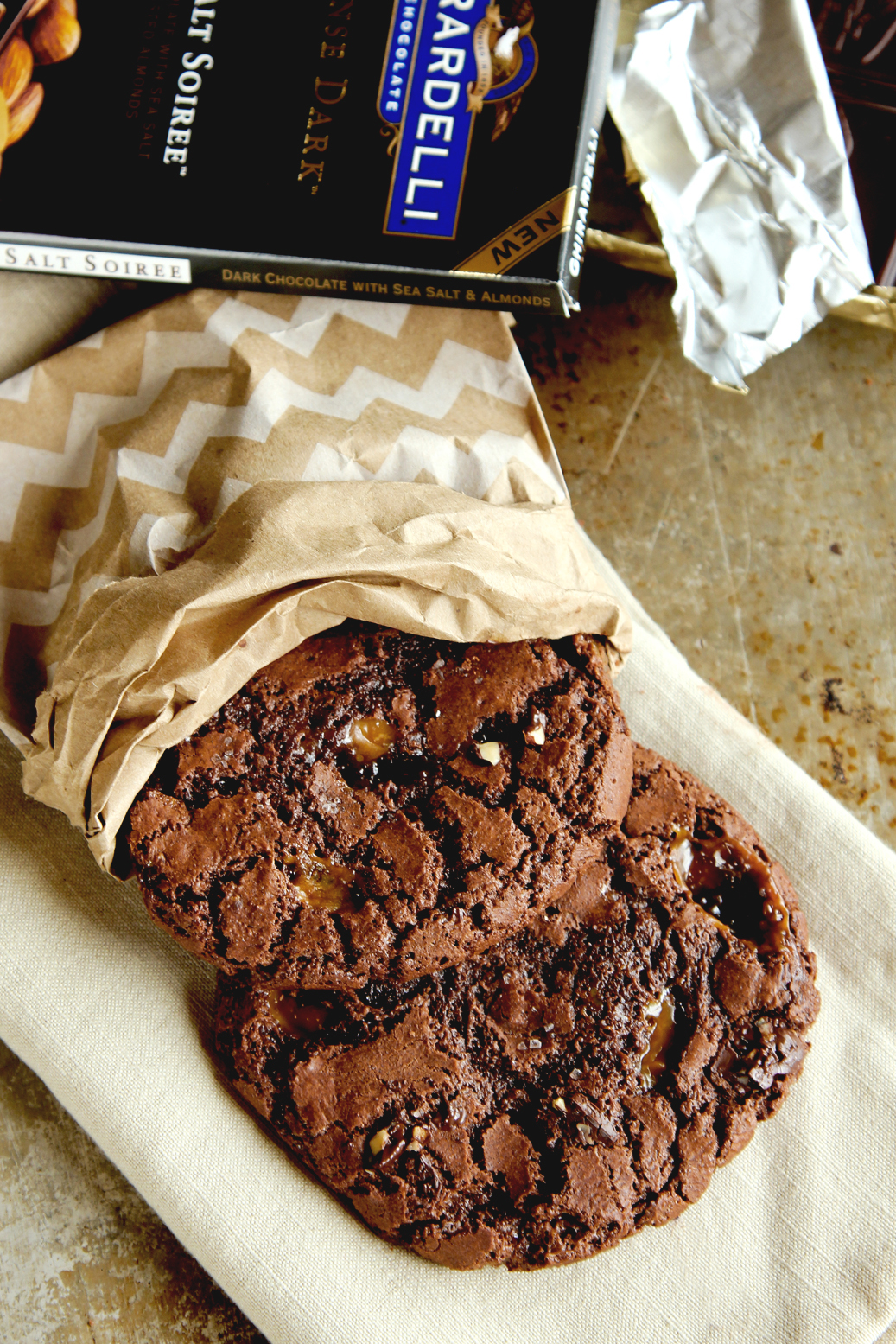 Salty Caramel Puddle Cookies - Life Made Simple