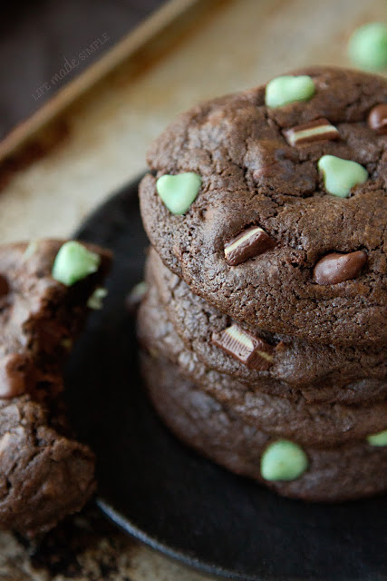Death By Mint Chocolate Cookies