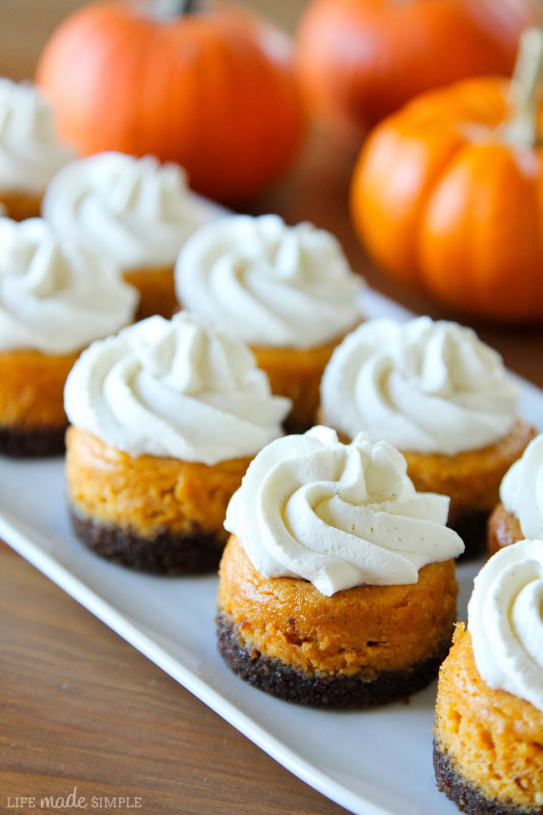 Mini Pumpkin Cheesecakes Recipe — Dishmaps